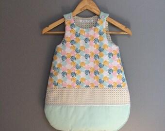 Geometric print sleeping bag. Made to order