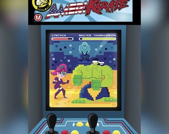 "SIGNED! AmeriKarate Issue #3: Limited Edition ""Arcade"" Variant Cover By Dave Perillo"