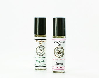 Set of Perfume Oils | Roll On Perfume Oil, 2 Bottle Set, Bridesmaid Gift, Gift Idea for Friends, Gift for Her - You Choose Two Types