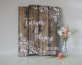 Wedding Date Sign - Personalized Wedding Sign - Custom Wedding Sign - Rustic Wood Wedding Sign - Personalized Wedding Gift -