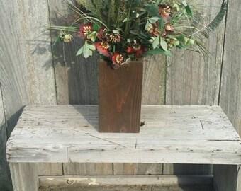 Rustic Wood Vase