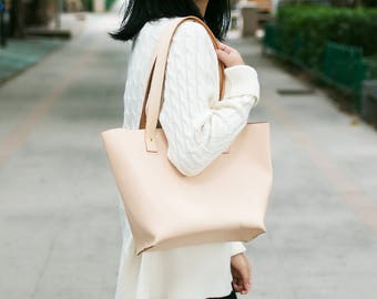 Tote Bag-Women's Cowhide Leather Handbag Handmade Leather Tote Italian Leather Handbag Small Size