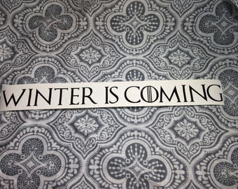Game of Thrones - Winter is Coming - Vinyl Decal Sticker - House Stark