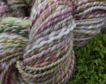 Handspun yarn, handpainted Polwarth wool yarn, worsted weight thick and thin yarn, multiple skeins available-Unicorn