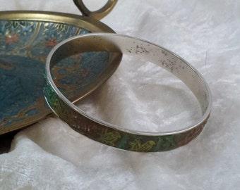 Crystal Clay Bangle Bracelet
