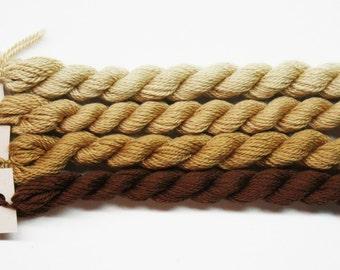 Silk & Ivory Yarn 4.95 Each, Silk Threads, Silk Ivory Thread, Brown Paper Packages Silk Ivory Yarn, Needlework Yarns, Needlepoint Wool Yarns
