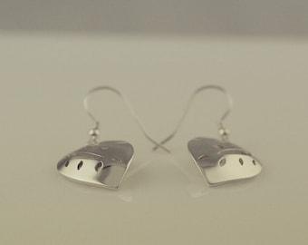 Leaf Drop Earrings in Sterling Silver