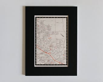 1950s map of Melbourne suburbs, Australia - Dandenong, ready to frame, 6 x 8""