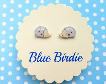 hedgehog earrings hedgehog jewellery hedgehog jewelry tiny hedgehog stud earrings cute hedgehog jewellery hedgehog gift hedgehog studs