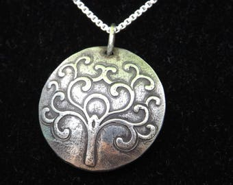 Silver Tree of Life necklace, Gifts for Mom, Gifts for Friend, Tree of Life Jewelry