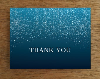 Printable Thank You Card Template - Starry Indigo Sky Printable Thank You Note - Night Sky Thank You Card - Thank You Note Download