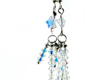 Celestial Star Earrings Outer Space Jewelry Astronomy Jewelry Crystal Shooting Star