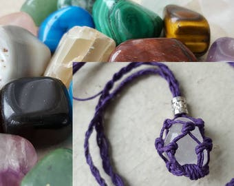 Crystal Bundle!  Interchangeable Crystal Holder Necklace & Crystal Reading! PLUS you get the crystal determined by your reading FREE!