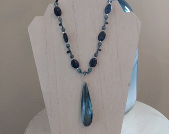Blue Crystal and Lapis Lazuli Necklace
