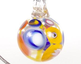 110281 Medium Hand Blown Hanging Art Glass Ball Decorative Ornament