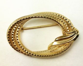 Vintage Gold Filled Bohar Brooch / Mid-Century Modern Brooch