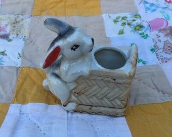 Ceramic Rabbit planter, vase, Japan