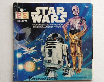 Star Wars childrens book and read along record from 1979