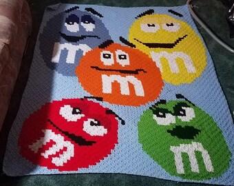 M&M Corner to Corner Crochet Graphghan