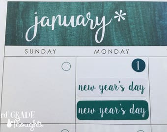2017-2018 Monthly Holidays for Erin Condren Teacher Planner