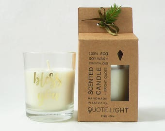 Christening gift Baptism gift Soy candle