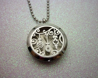 Aromatherapy Locket - Stainless Steel Diffuser Necklace - Essential Oil Locket Diffuser Locket - Aromatherapy Jewelry Oil Diffuser