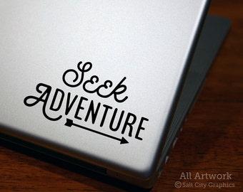 Seek Adventure - Laptop Decal - Vinyl Sticker, Vinyl Decal, Car Decal, Adventure Decal - Car Window Decal, Bumper Sticker, Laptop Sticker