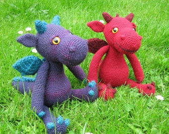 Cuddly Dragon Amigurumi Pattern PDF - Crochet Pattern
