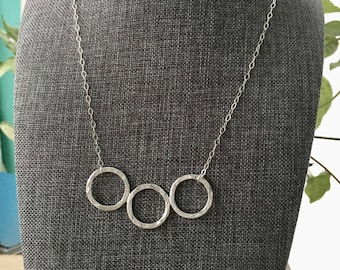 Large 3 Circle Necklace