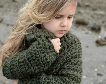 CROCHET PATTERN-The Thurston Sweater (2, 3/4, 5/7, 8/10, 11/13, 14/16, S/M, L/XL sizes)