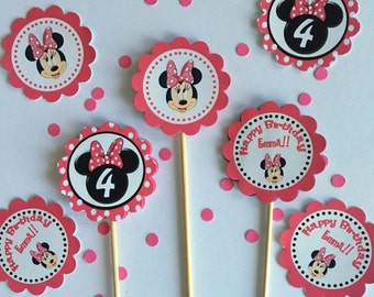 Minnie Personalized Cupcake toppers