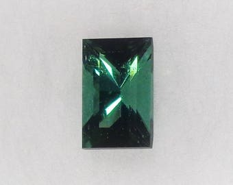 Green Tourmaline Natural Gemstone .66ct Loose Baguette Cut Faceted Stone