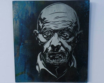 Mike from Breaking Bad 1 layer stencil portrait by STENZSKULL