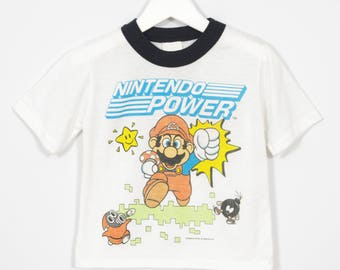 1989 Child's Super Mario Nintendo Power T-Shirt
