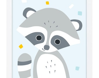 Raccoon Poster A3