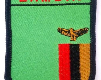 Zambia Embroidered Patch