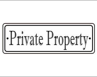"""2"""" x 6"""" Private Property Sign - Free Shipping"""