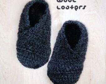 Crochet Pattern Wool Baby Loafers Newborn Booties Infants Loafers Preemie Shoes Crochet Pattern (WL01-G-PAT)