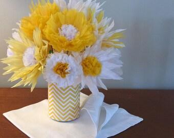 Burst of Yellow Paper Flower Arrangement
