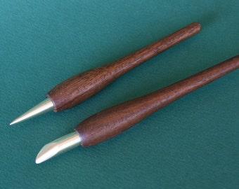 Bookbinding Tools, Stylus set, brass handtool, decorative tool,