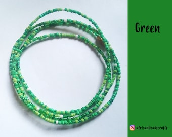 Go Green - Waist Beads - Belly Chain - Belly Beads - African Waist Beads - African jewelry
