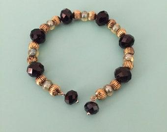Beaded Bracelet / Charm Bracelet / Cuff Bracelet / Gold Bracelet / Black Bracelet/ Statement Bracelet / Women's Bracelet / Jewelry Set