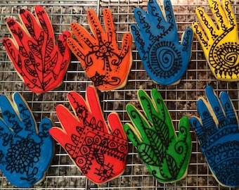 Henna Hand Cookies- large