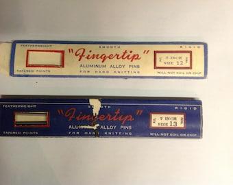 Vintage Canadian Knitting Needles