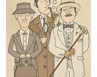 The Detectives - Illustration Art Print