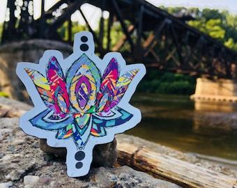 Zen Lotus - Electric Color Vinyl Magnet