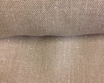 Natural 100% linen color fabric coupon