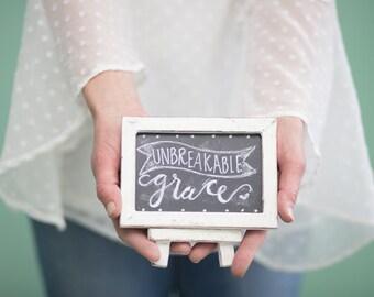 Amazing Grace, Framed Chalkboards, decorative chalkboards, chalk board decor, Christian wall art, handmade signs, custom chalkboards easel