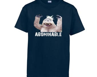 Youth Christmas Shirt Abominable Snowman Bumbles Shirt Holiday Christmas School Party Kid's T-Shirt