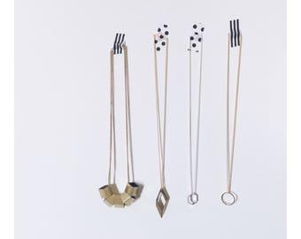 Minimalist Geometric Brass Necklaces